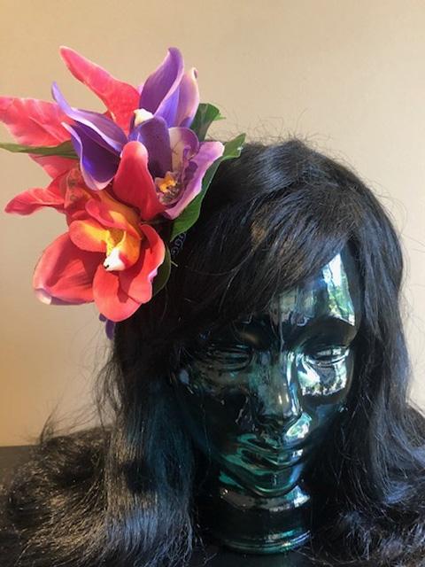 Tiki hair flower